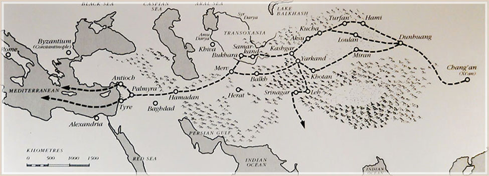 Trade routes in early ages