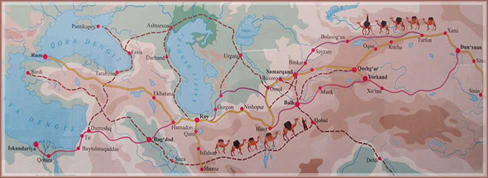Trade routes in Middle Age